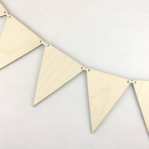 Wooden Triangle Traditional Hanging Bunting