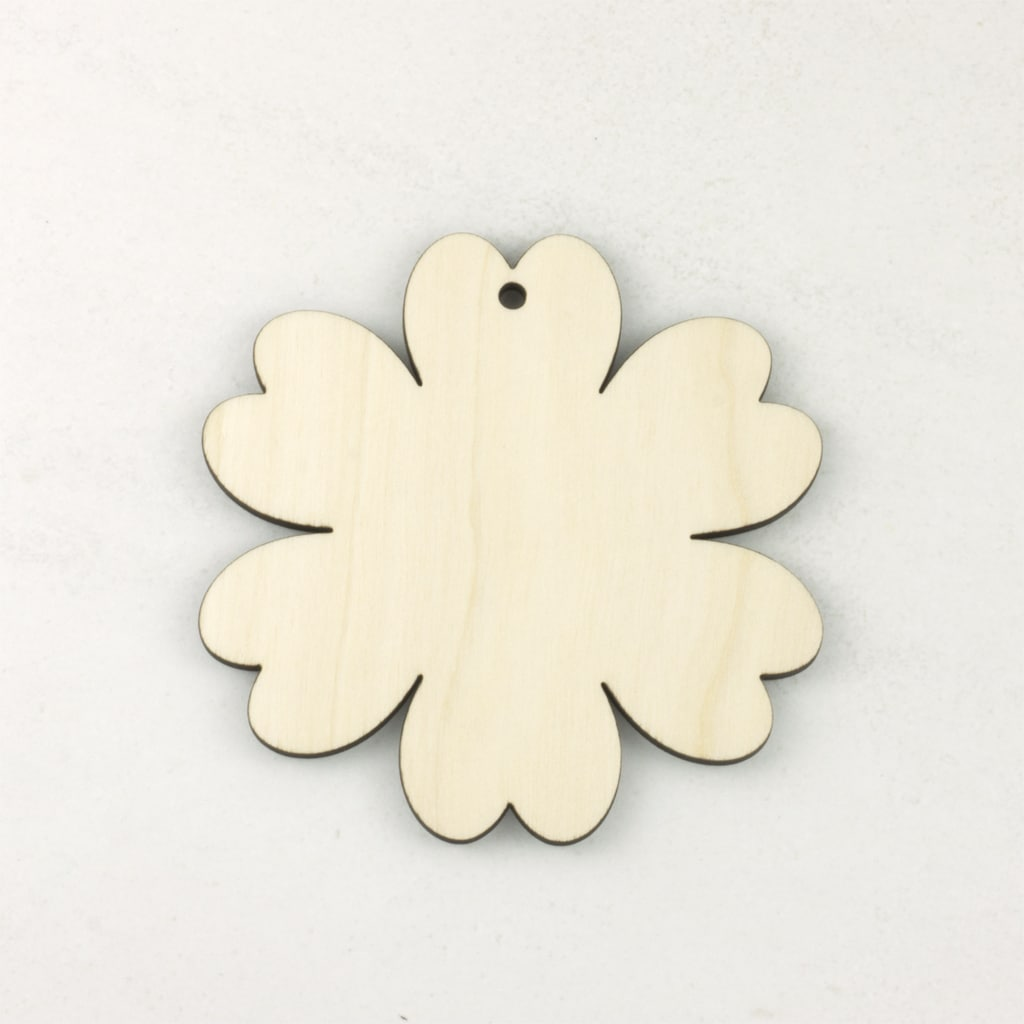 Wooden ditsy flower tag