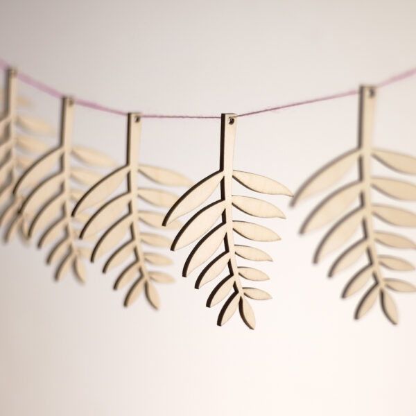 Wooden Fern Leaves