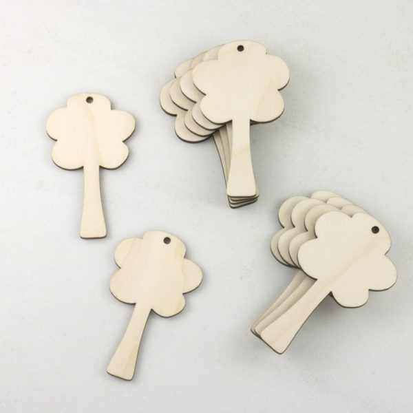 wooden tree tags