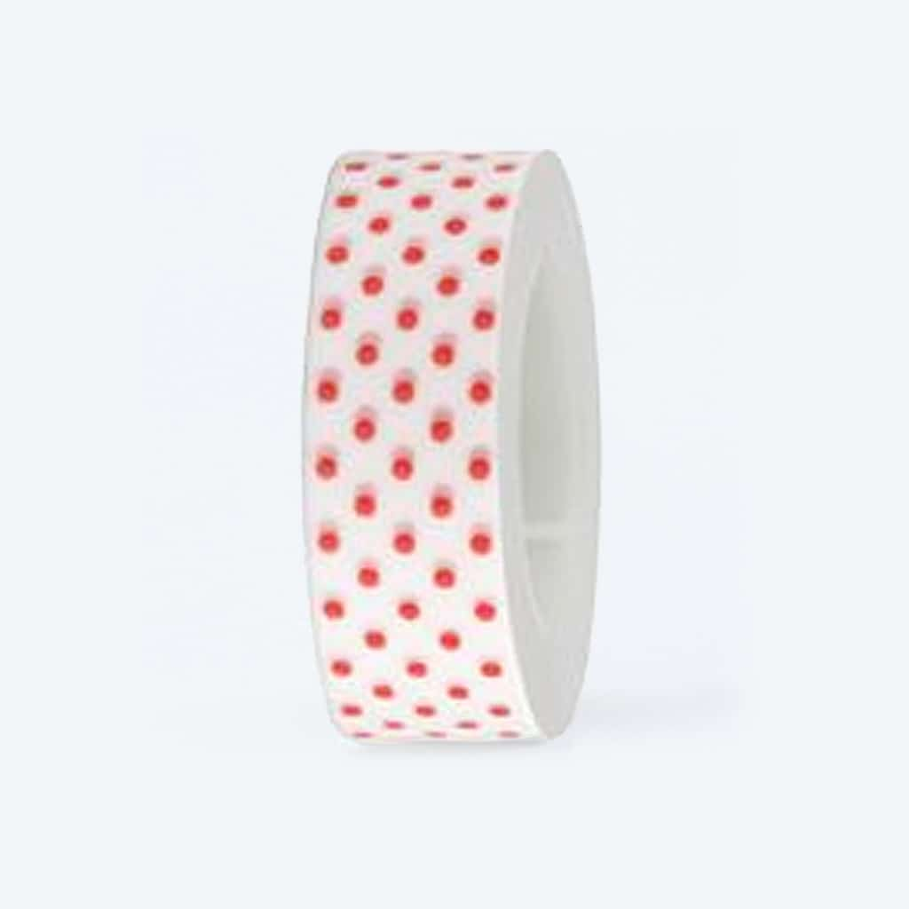 washi tape white red dotted