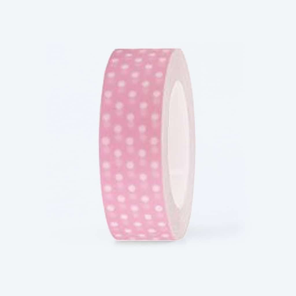 washi tape pink white dotted