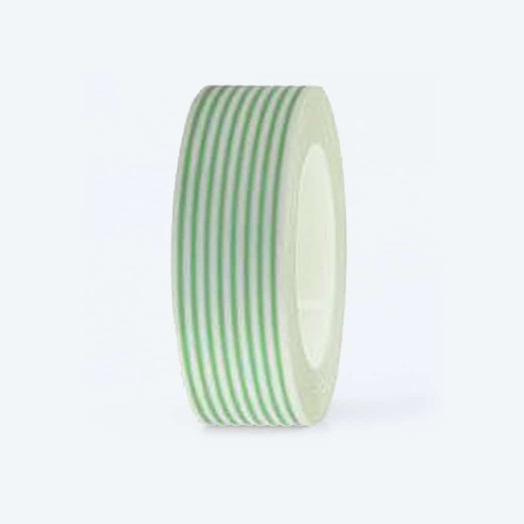 washi tape striped white green