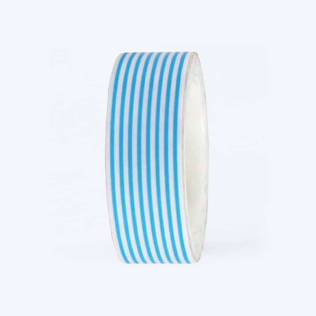 washi tape striped blue white