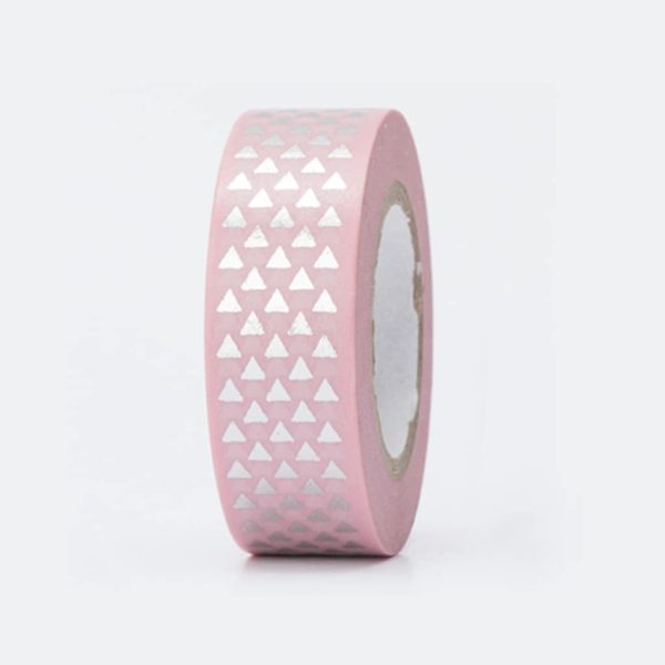 silver triangles washi tape