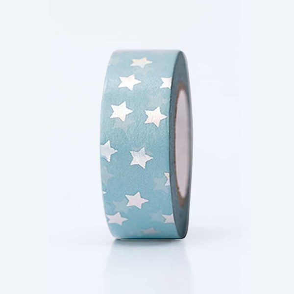 washi tape iridescent stars
