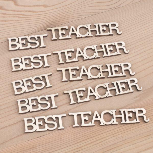 mini wooden best teacher words