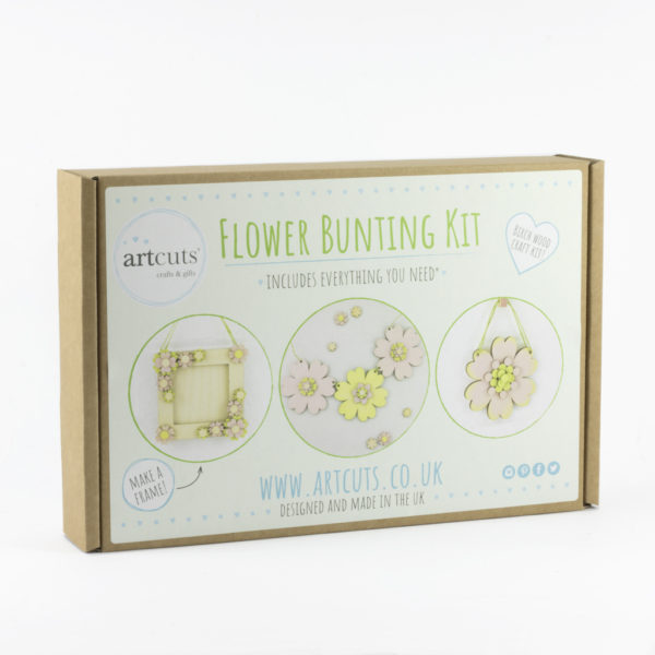 flower bunting craft kit