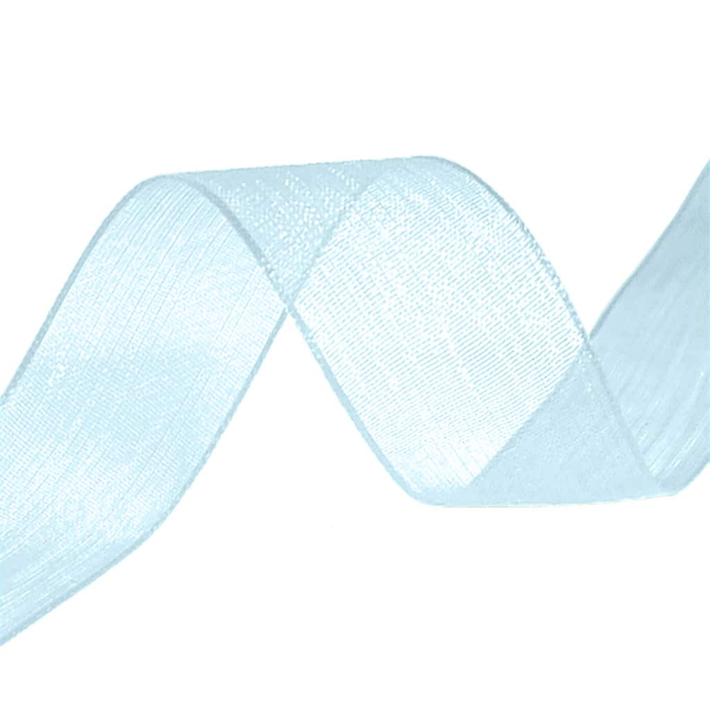 organza ribbon baby blue