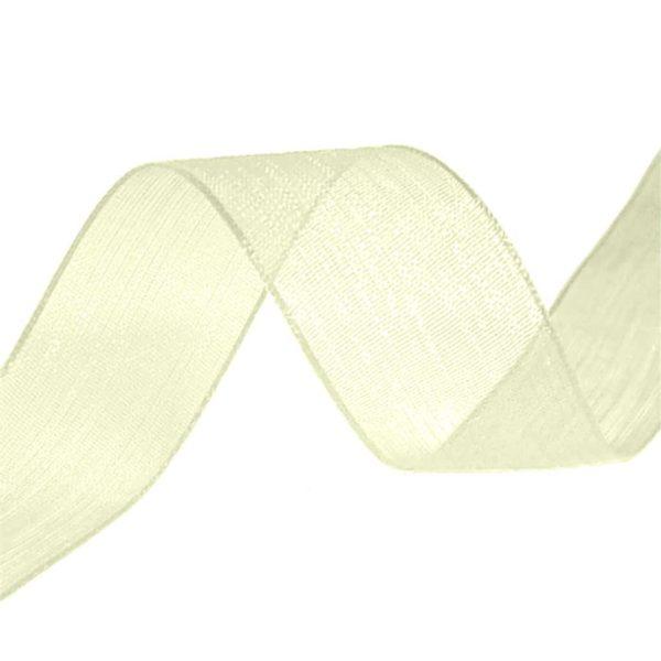organza ribbon cream