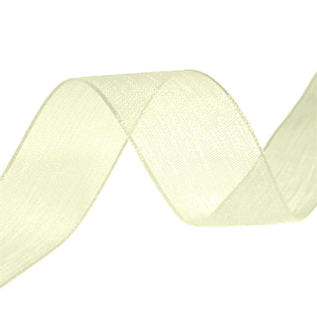 organza ribbon cream