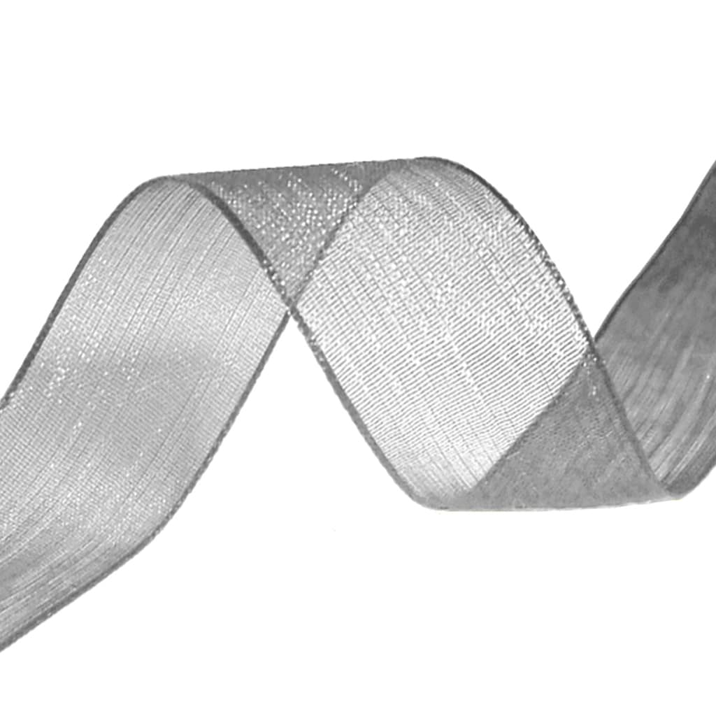 organza ribbon graphite