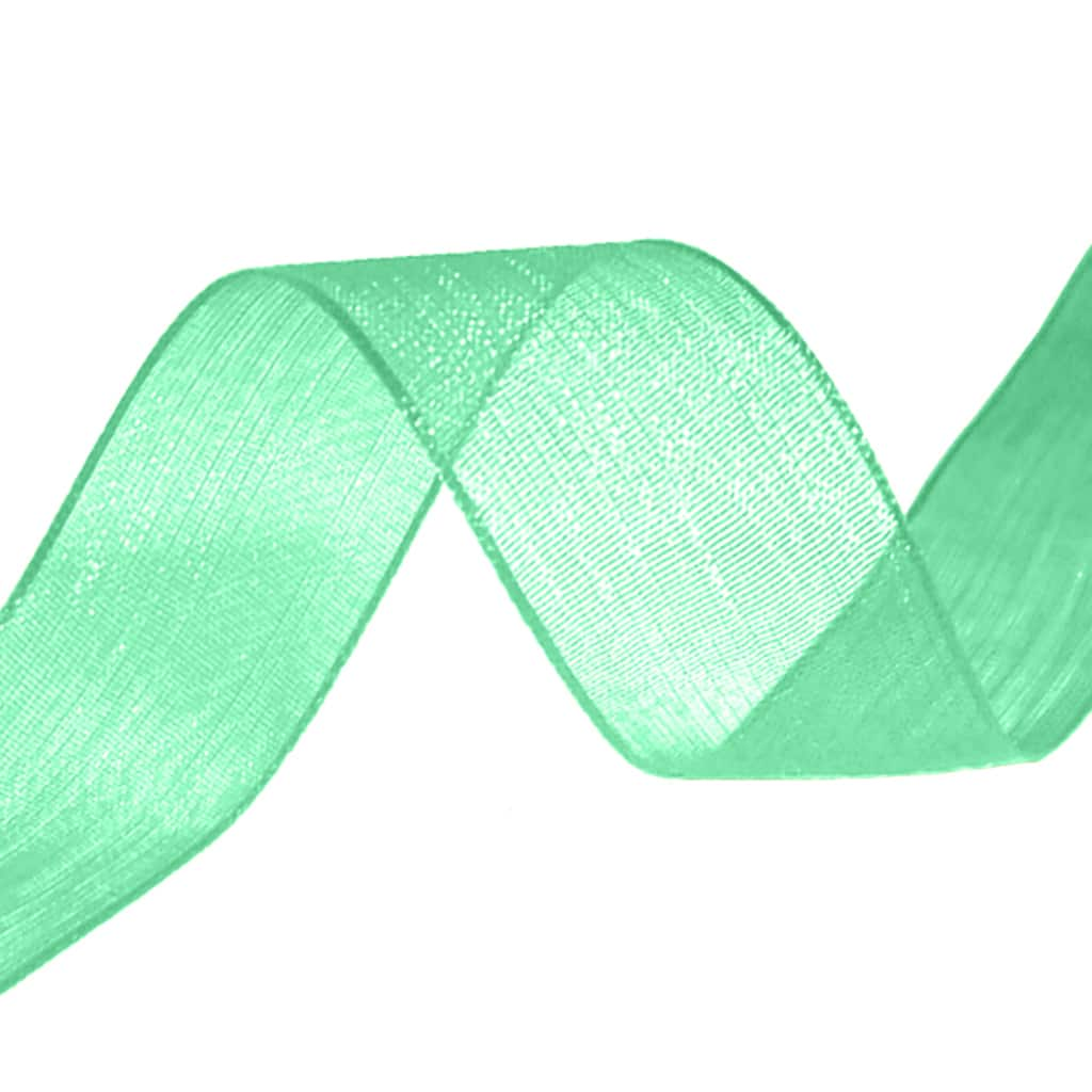 organza ribbon green