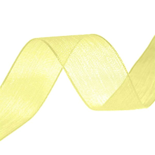 organza ribbon lemon