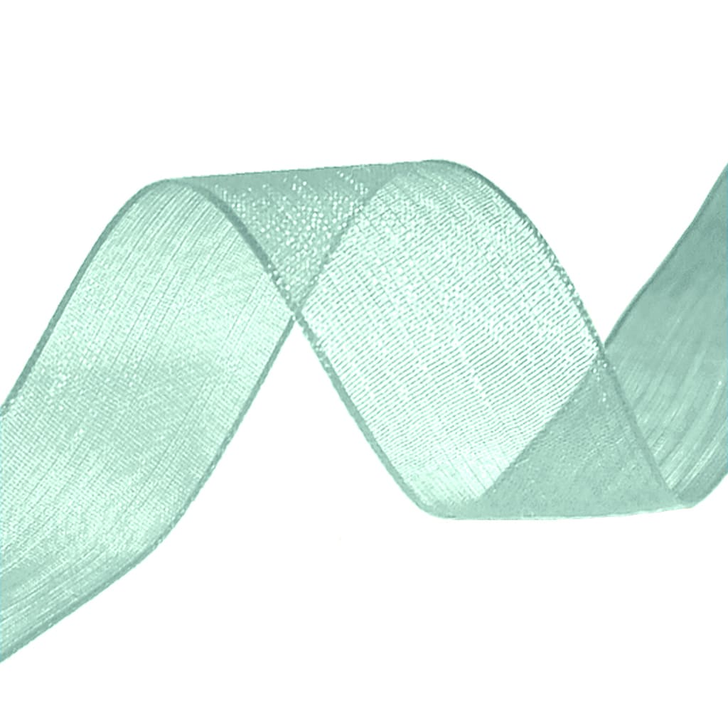 organza ribbon mint