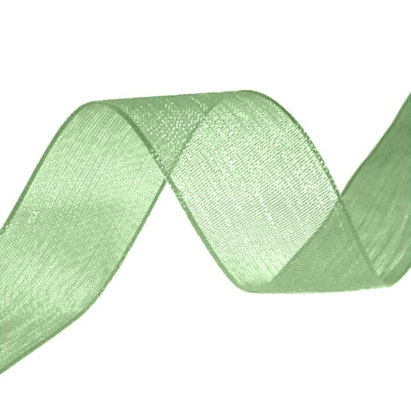organza ribbon moss green