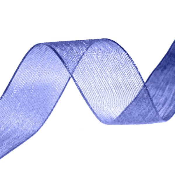organza ribbon navy