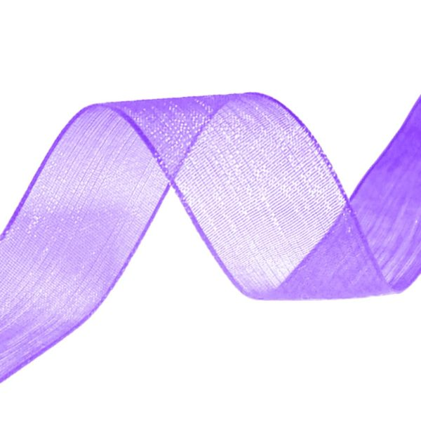 organza ribbon purple