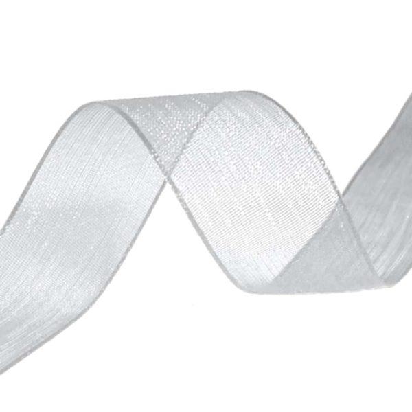 organza ribbon silver