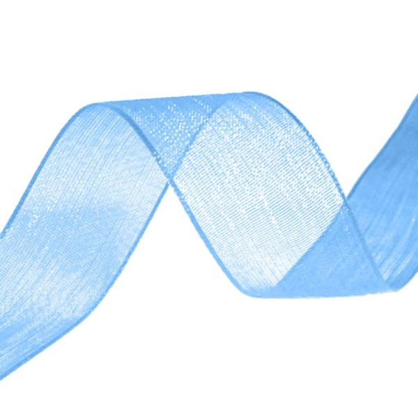 organza ribbon sky blue