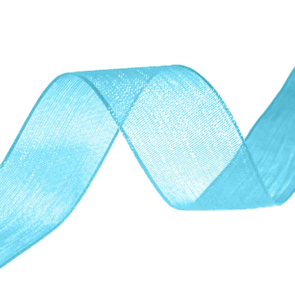 organza ribbon turqoise