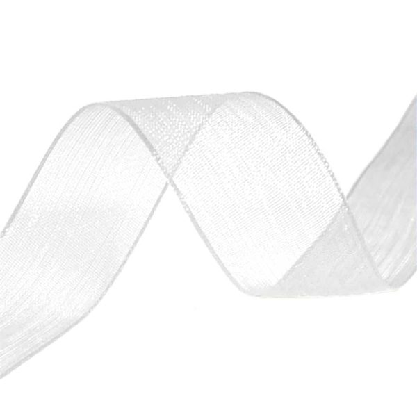 organza ribbon white