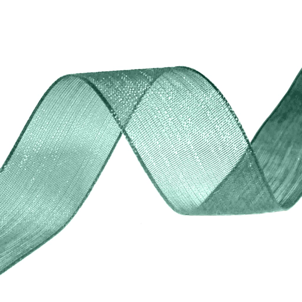 organza ribbon christmas green