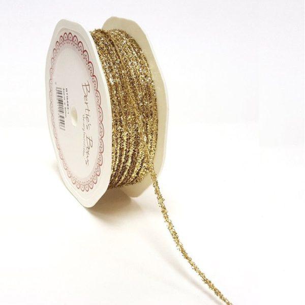 gold glitter cord