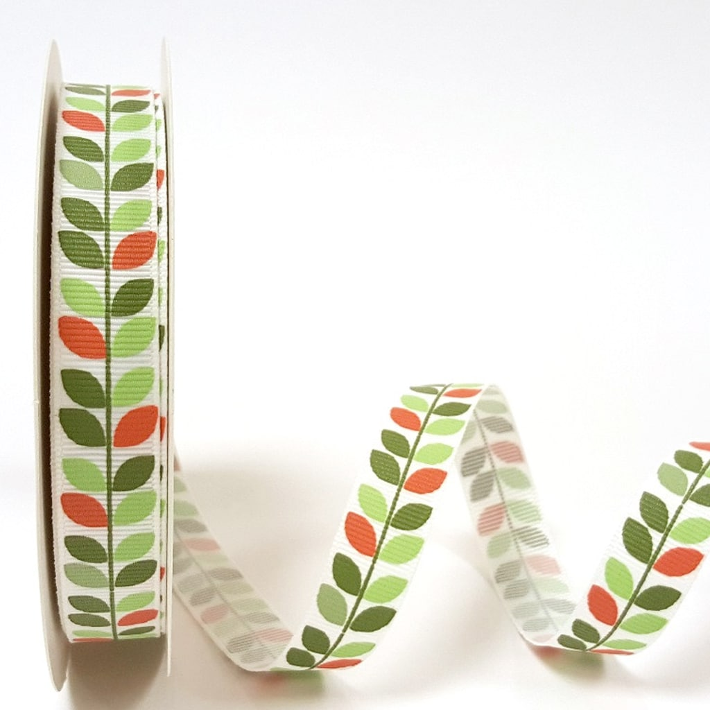 leaf vine ribbon green