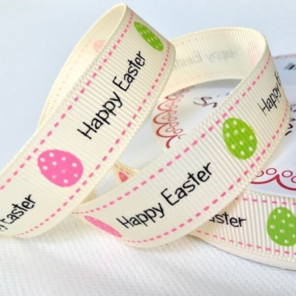Happy Easter Ivory Ribbon