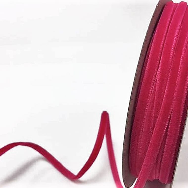 velvet ribbon bright pink
