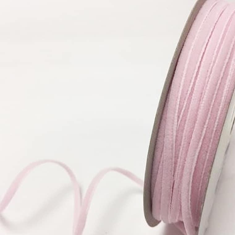 velvet ribbon pale pink