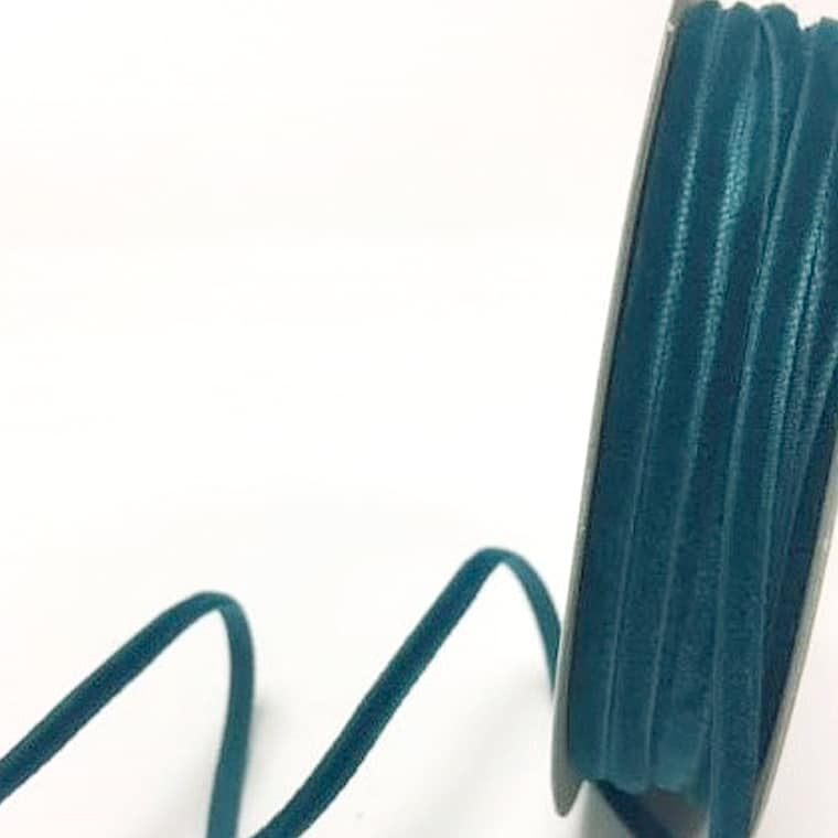 velvet ribbon teal