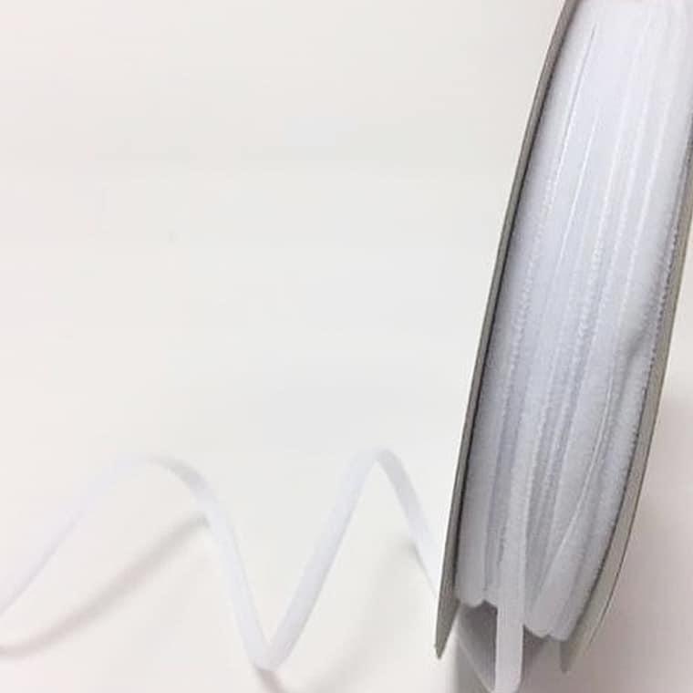 velvet ribbon white