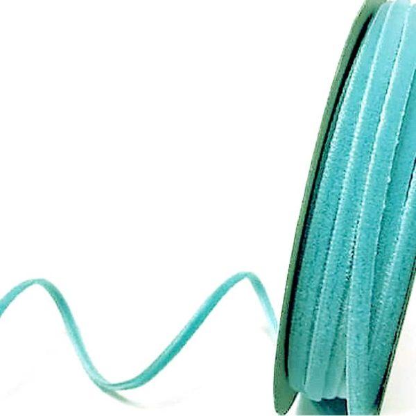 velvet ribbon aqua