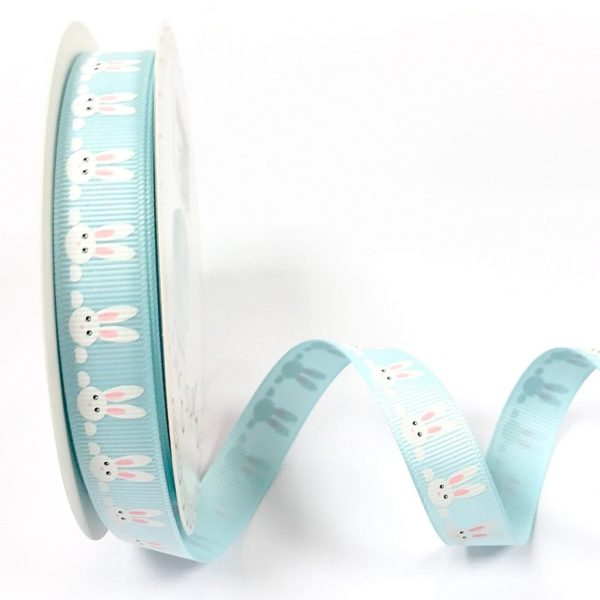 bunnies ribbon blue