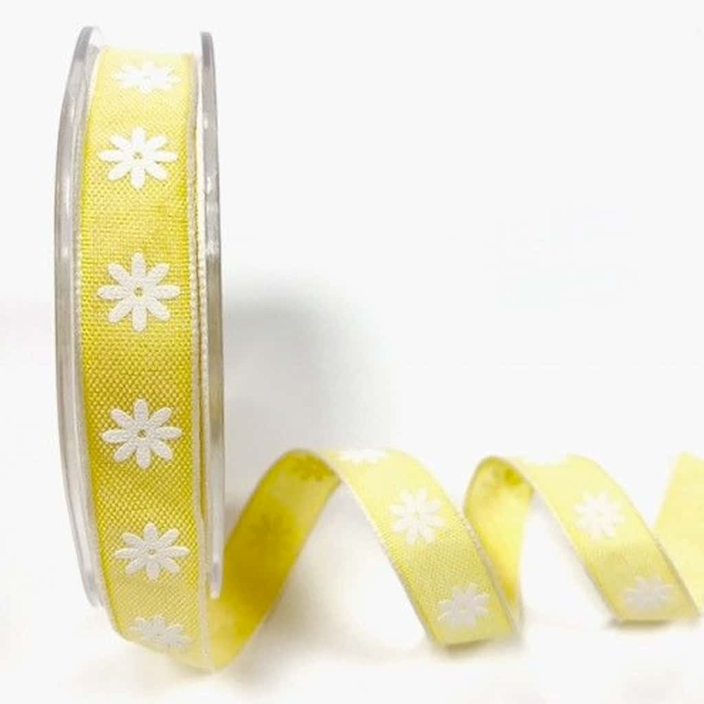 daisy print ribbon lemon