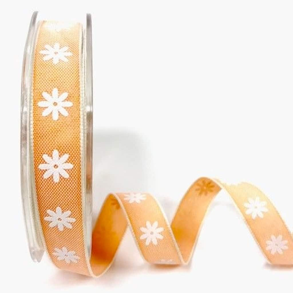 daisy print ribbon orange