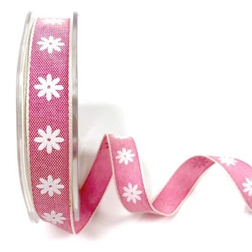 daisy print ribbon raspberry