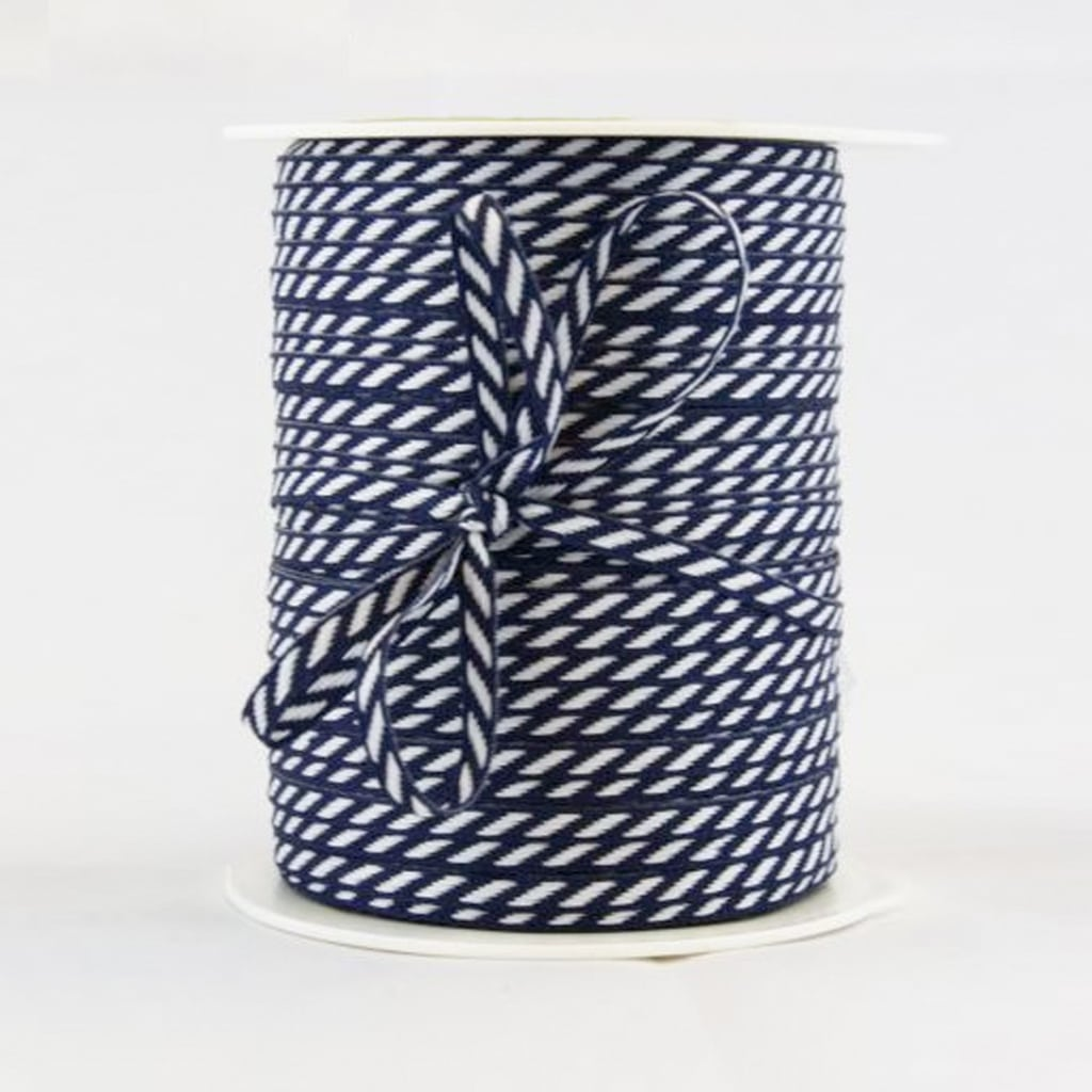 diagaonal stripe ribbon navy