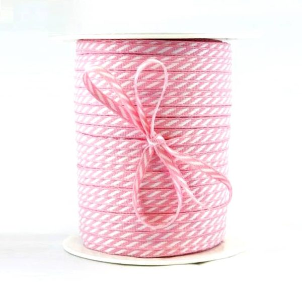 diagonal stripe ribbon pink