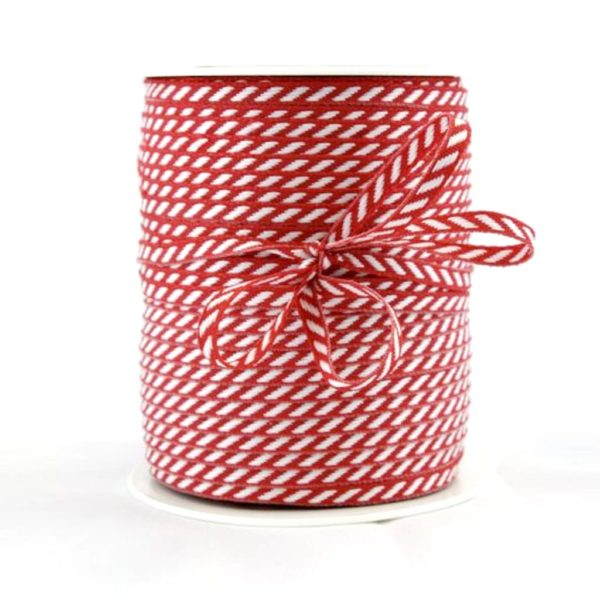 diagonal stripe ribbon red