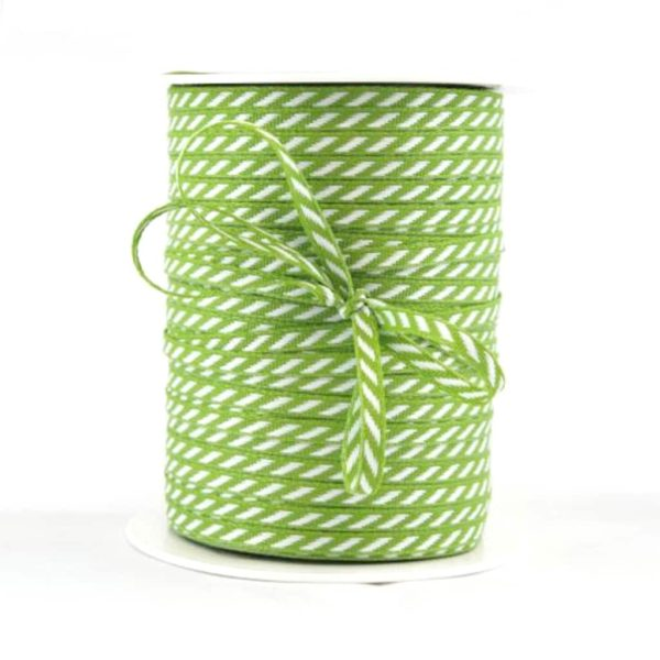 diagonal stripe ribbon green