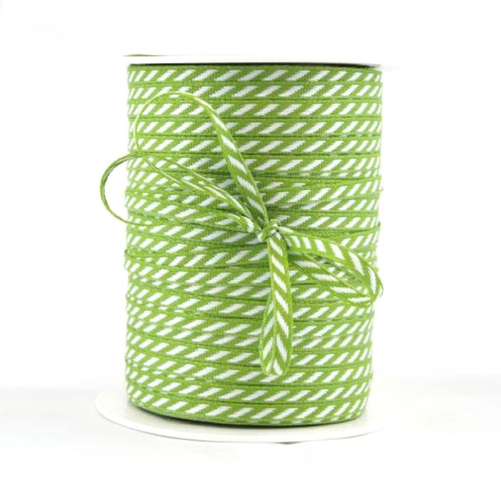 diagonal stripe ribbon green