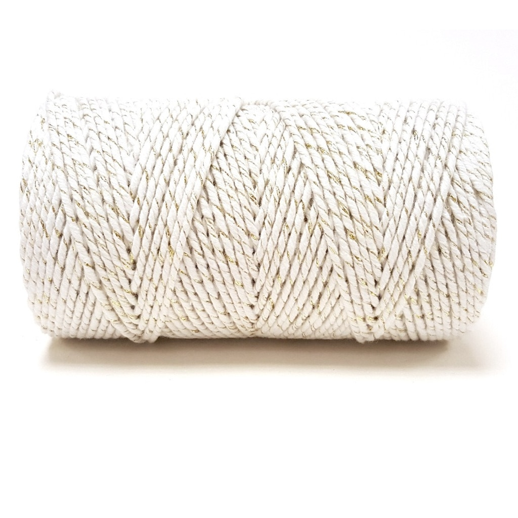 bakers twine gold and white