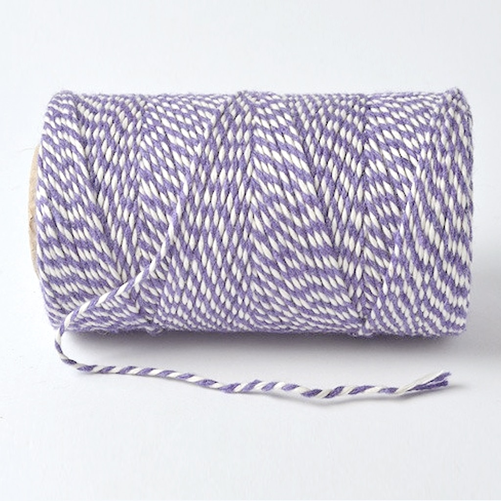 bakers twine lilac white