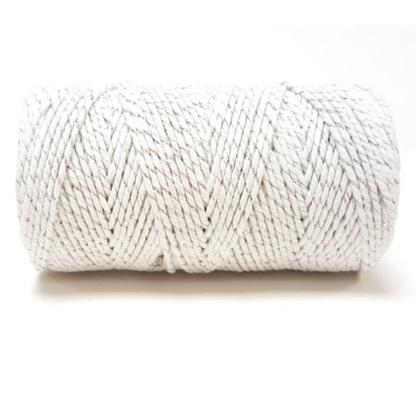 bakers twine silver and white