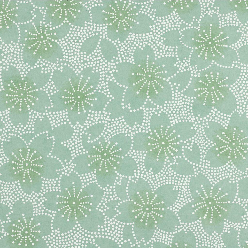 Japanese Chiyogami Paper Aqua Mosaic 1012c