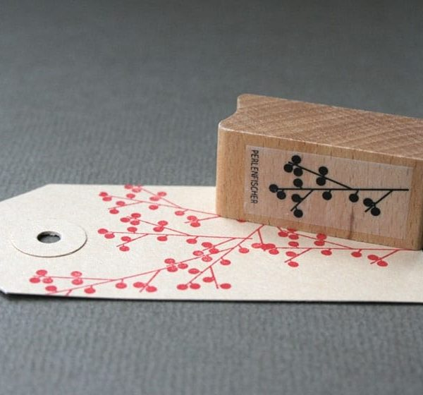 Berry Branch Rubber Stamp by Perlen Fischer