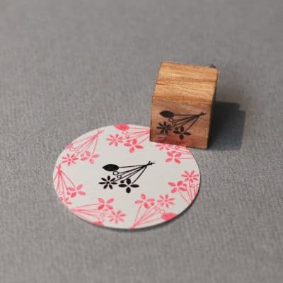 bouquet rubber stamp
